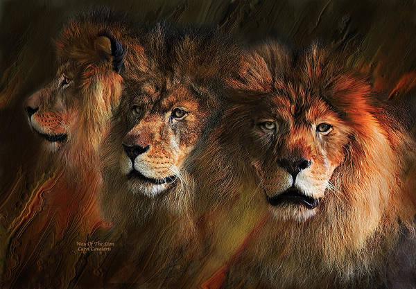 Mixed Media - Way Of The Lion by Carol Cavalaris