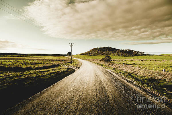 Gravel Road Photograph - Way Out Yonder by Jorgo Photography - Wall Art Gallery