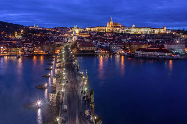 Bluehour Photograph - Way To The Castle by Blaz Gvajc