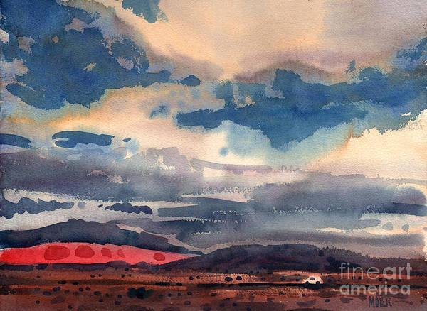 Skyscape Painting - Way West by Donald Maier