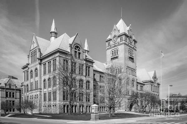 Old Main Wall Art - Photograph - Wayne State University Old Main by University Icons