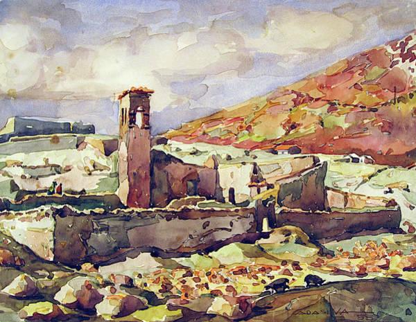 Bolivia Painting - Wb1955bo001 Landscape Of Potosi 11.5x9 by Alfredo Da Silva