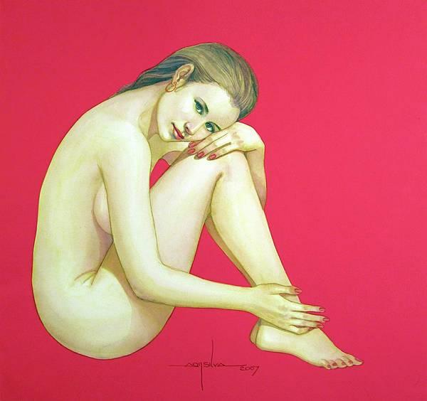 Wall Art - Painting - Wb2007dc006ba Giadys Argentina 12.5x11.5 by Alfredo Da Silva