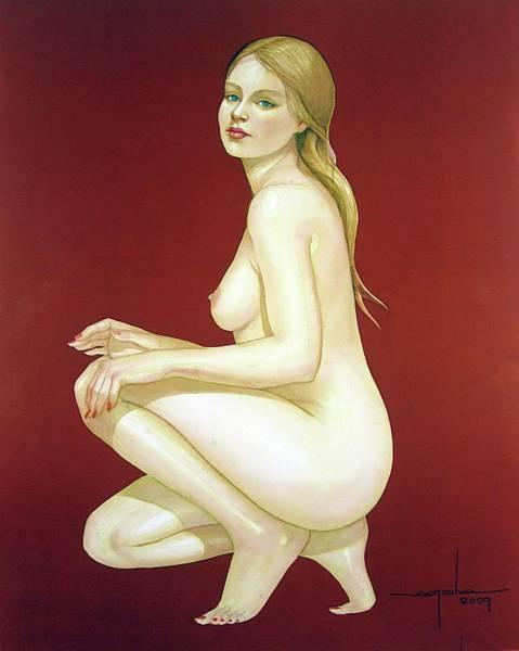 Tif Wall Art - Painting - Wb2007dc008ba Gilda Argentina 10.75x13.75 by Alfredo Da Silva