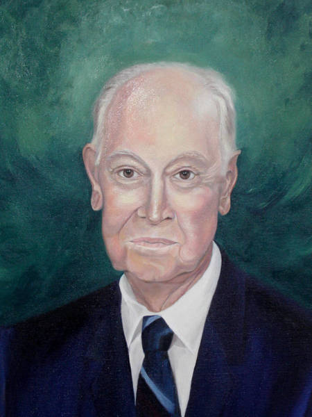 Painting - Wc Brown Commsioned Portrait by Anne Cameron Cutri