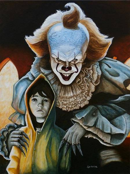 Wall Art - Painting - We All Float Down Here by Al  Molina
