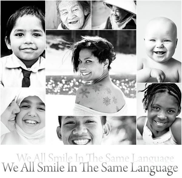 Laughter Wall Art - Photograph - We All Smile In The Same Language by Jacky Gerritsen