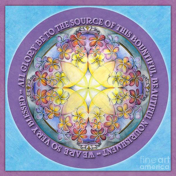 Painting - We Are Blessed Mandala Prayer by Jo Thomas Blaine