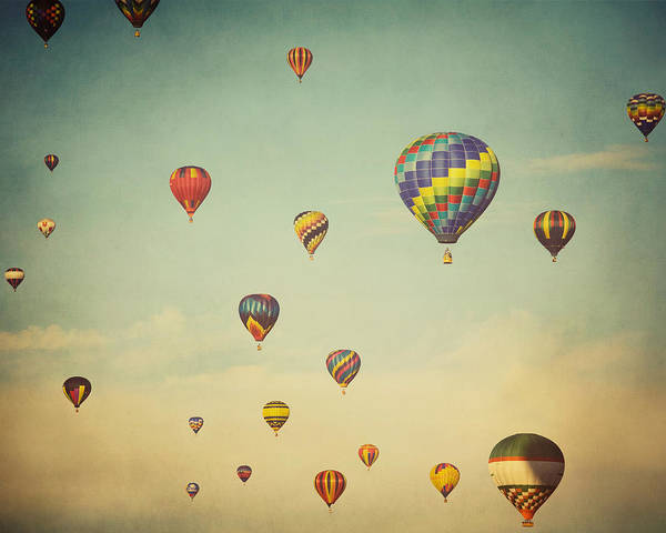 Hot Air Balloons Photograph - We Are Floating In Space by Irene Suchocki