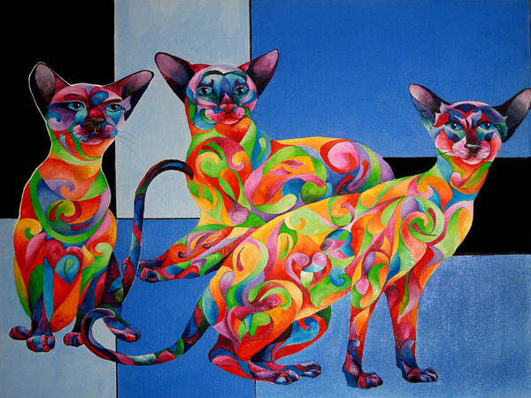 Painting - We Are Siamese If You Please by Sherry Shipley