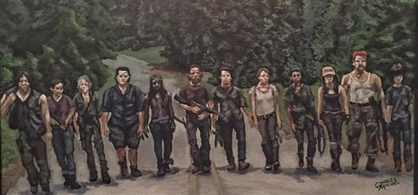 The Walking Dead Painting - We Are The Walking Dead by Charles Michael
