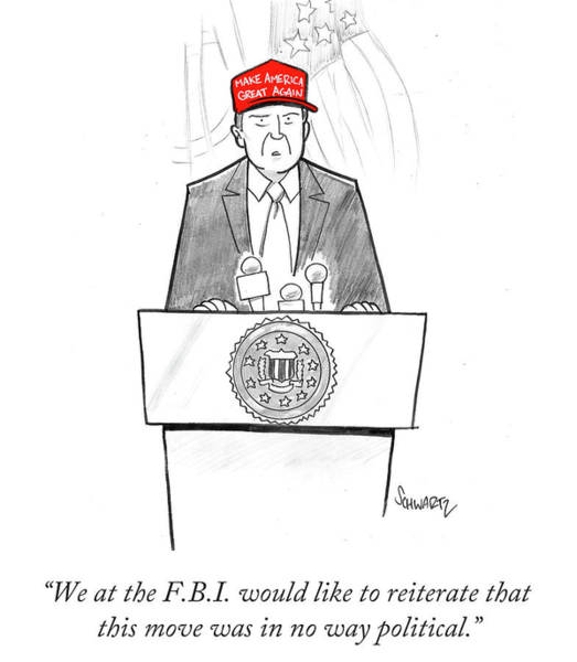 2016 Election Drawing - We At The Fbi by Benjamin Schwartz