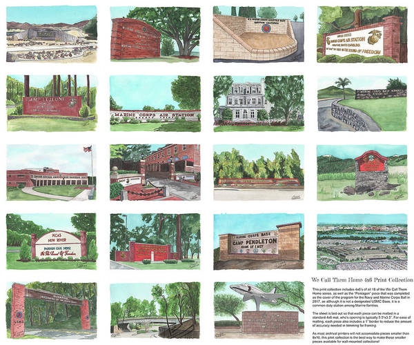 Painting - We Call Them Home 4x6 Collection - 24x20 Natural Sized Poster Print by Betsy Hackett