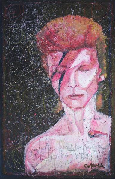 Starman Painting - We Can Be Heroes A Tribute To David Bowie by Laurie Maves ART