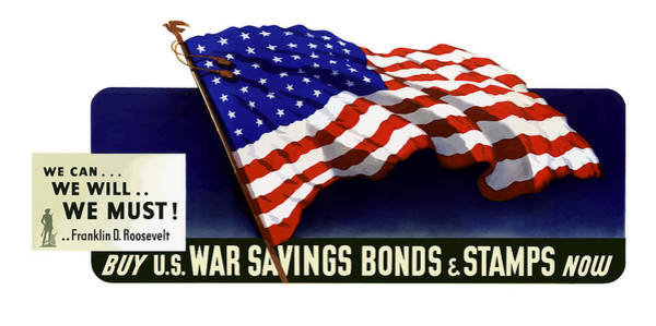 American Flag Wall Art - Painting - We Can - We Will - We Must  by War Is Hell Store
