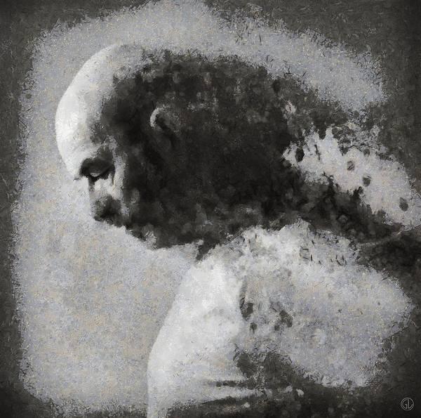 Grayscale Digital Art - We Cannot Escape Our Traces by Gun Legler