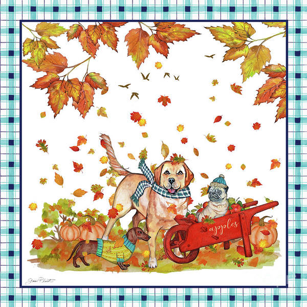 Wall Art - Painting - We Dig Fall-b by Jean Plout