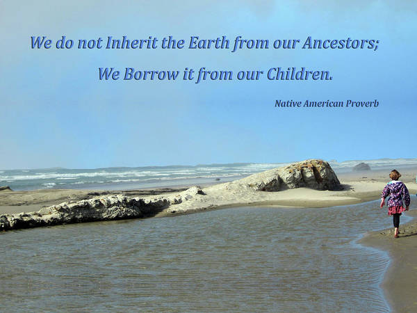 We Do Not Inherit The Earth - V1 Art Print