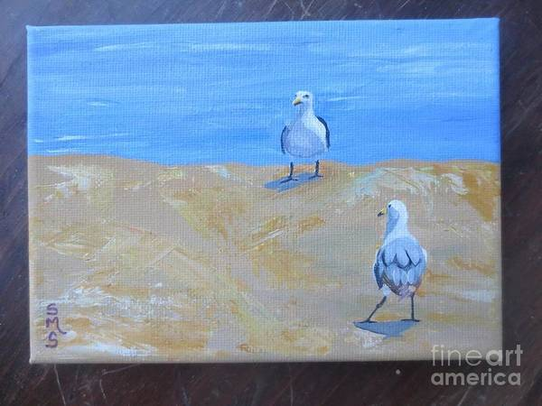 Painting - We First Met On The Beach by Stella Sherman