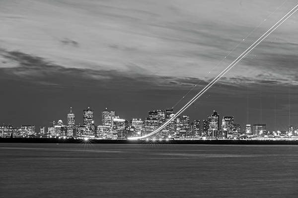 Photograph - We Have Liftoff - Plane Taking Off From Logan Airport Boston Ma Steep Black And White by Toby McGuire