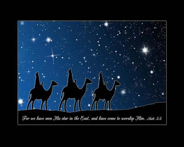 Digital Art - We Have Seen His Star Chrismas by Denise Beverly