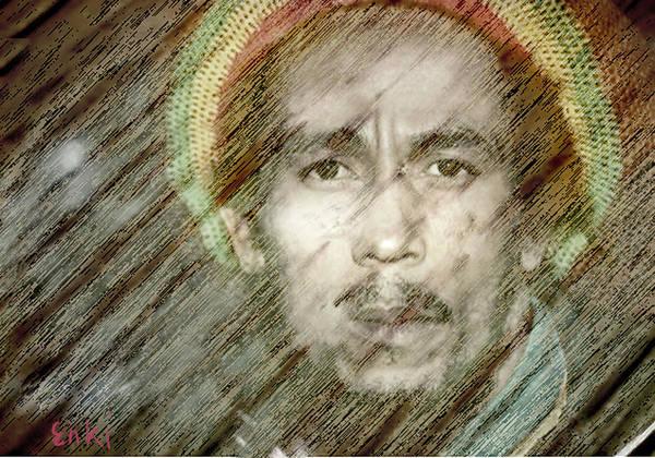 The Wailers Painting - We Jammin - Bob Marley  by Enki Art