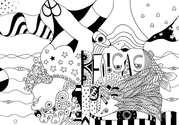 Drawing - We Make Believe 2 by Helena Tiainen