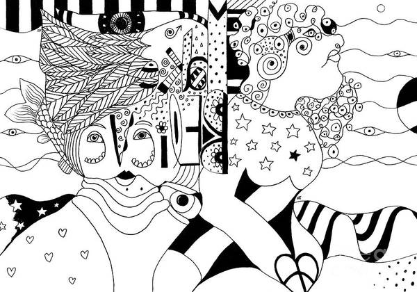 Drawing - We Make Believe by Helena Tiainen
