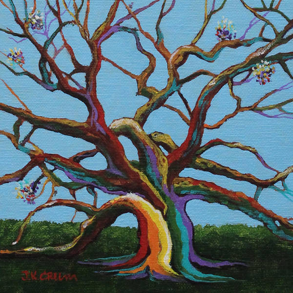 Angel Oak Painting - We Make Stronger Angels Together by John Crum