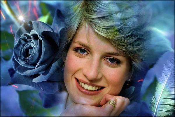 Tribute Digital Art - We Miss You So Much ... Diana by Daniel Arrhakis