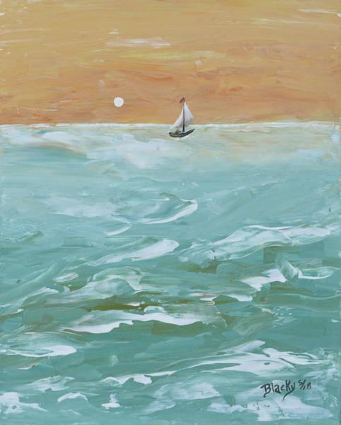 Wall Art - Painting - We Sail At Dawn by Donna Blackhall