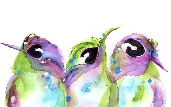 Painting - We Three by Dawn Derman