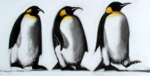 Christmas Card Painting - We Three Kings by Paul Powis