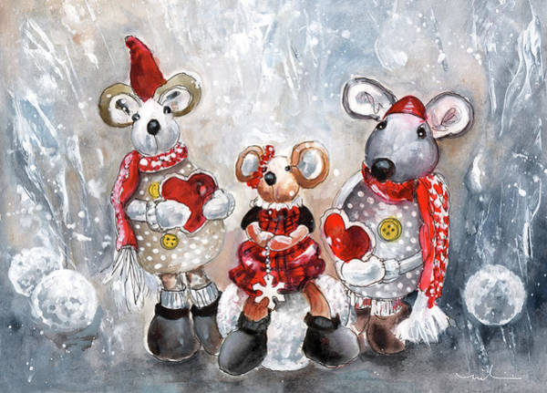 Painting - We Three Mice by Miki De Goodaboom
