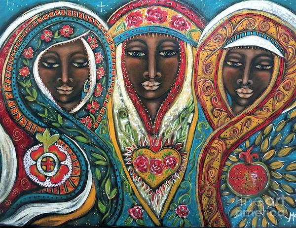 Pleiades Painting - We Three Queens Of Orient Are by Maya Telford