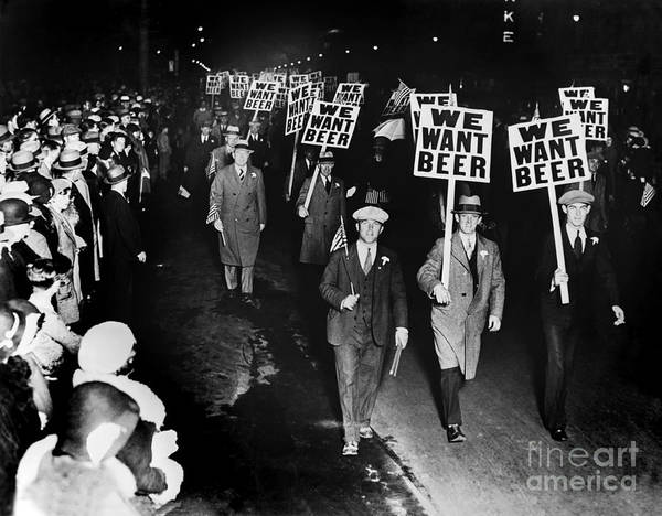 Americana Photograph - We Want Beer by Jon Neidert