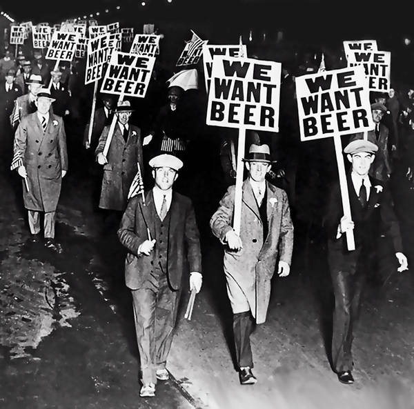 Moonshine Photograph - We Want Beer - Prohibition C. 1932 by Daniel Hagerman