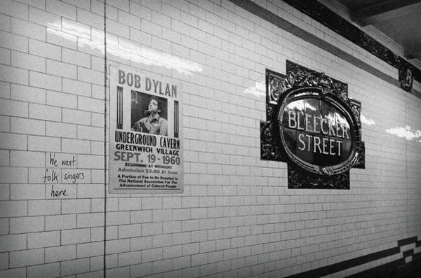 Wall Art - Photograph - We Want Folk Singers Here, Bob Dylan by Mal Bray