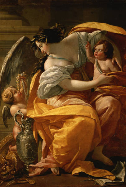 Wealth Painting - Wealth by Simon Vouet