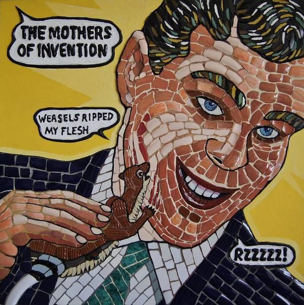 Frank Zappa Wall Art - Mixed Media - Weasels Ripped My Flesh by Tony Cepukas