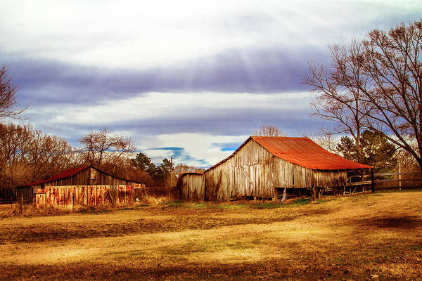 Photograph - Weather Coming In - Farm Landscape by Barry Jones