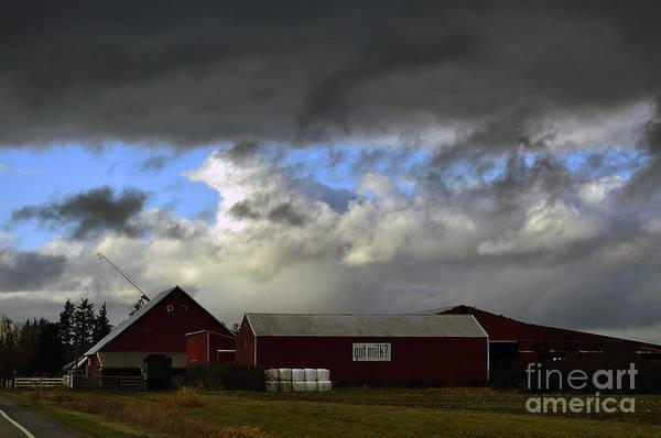 Weather Threatening The Farm Art Print