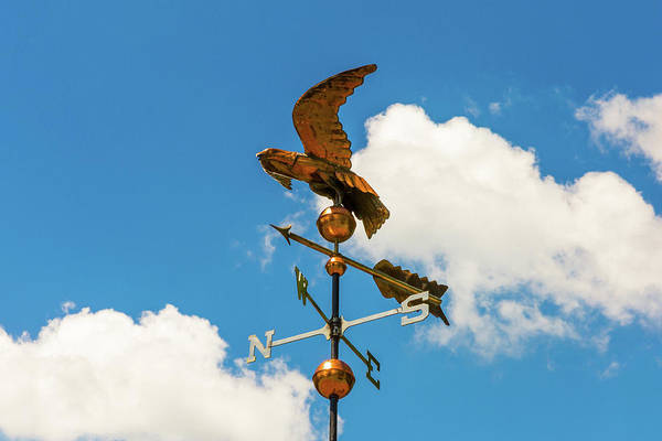 Weather Vane On Blue Sky Art Print