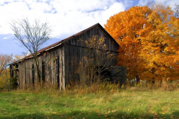 Photograph - Weathered Barn 3 by Sam Davis Johnson