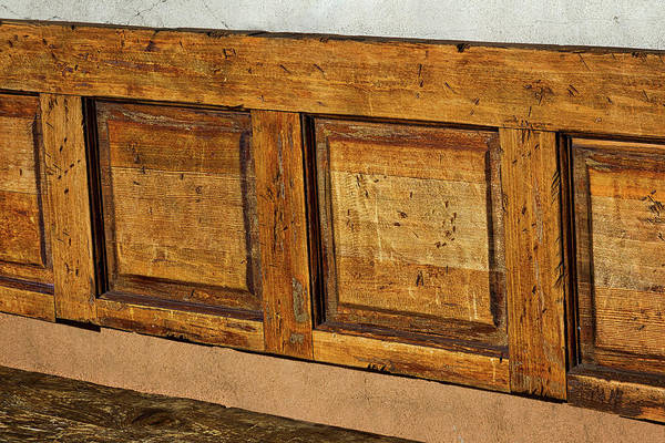 Photograph - Weathered Bench - Santa Fe #2 by Stuart Litoff