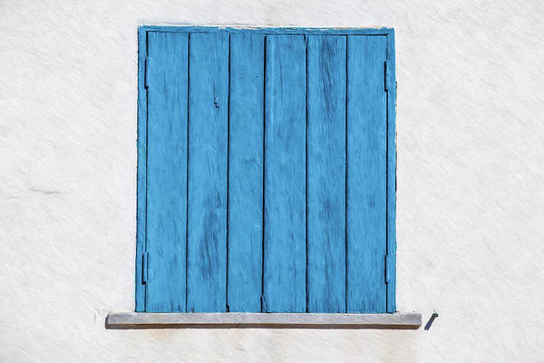 Painting - Weathered Blue Shutter by David Letts