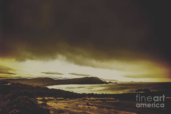 Dreary Photograph - Weathered Coastline by Jorgo Photography - Wall Art Gallery