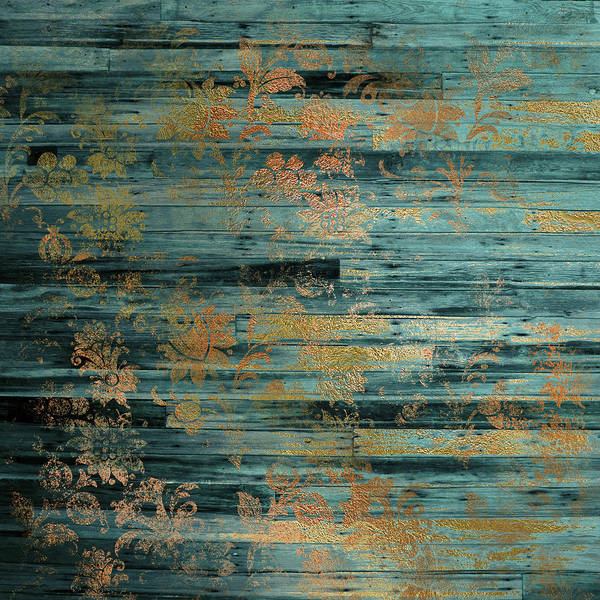 Teal Mixed Media - Weathered I by Lucy Chiffon