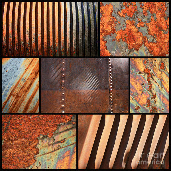 Photograph - Weathered Metal Collage 3 by Carol Groenen