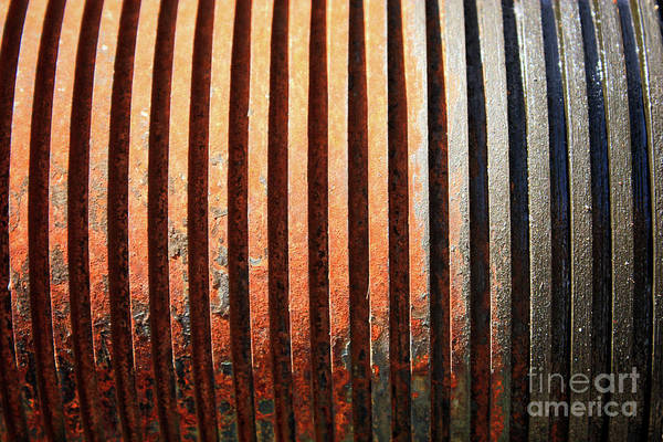 Photograph - Weathered Metal With Rows by Carol Groenen